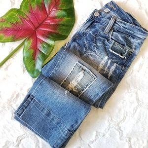 Bebe Jeans Patchwork Crop